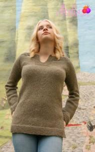Den første versjonen av denne genseren ble i sin tid forkastet. Den var ikke spennende nok. Både denne og de andre versjonene av denne genseren, til både herre, dame og barn er mine bestselgere. :)