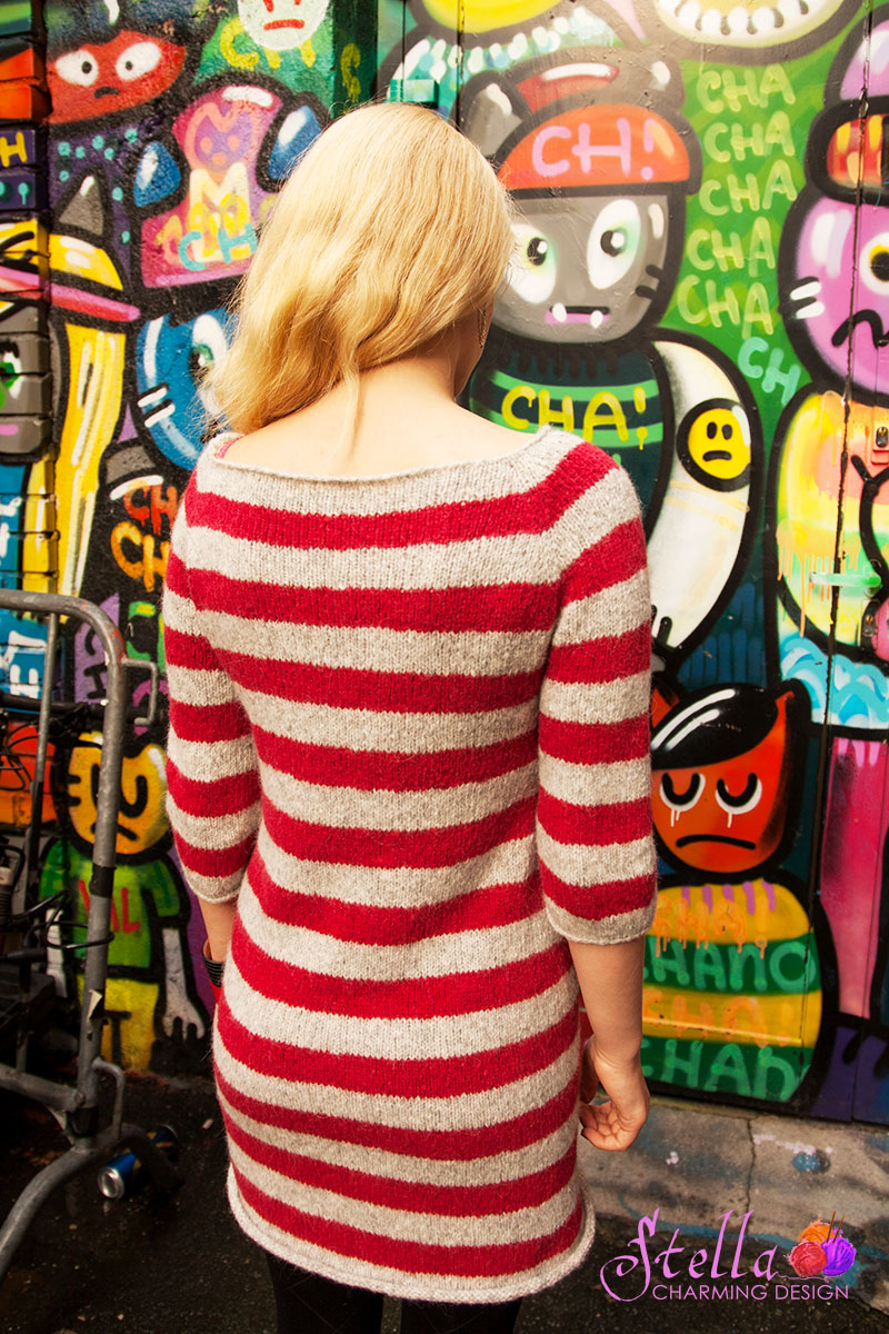 Kenai-strikk-kjole