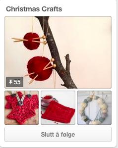 Tavlen Christmas Crafts er full av juleinpirasjon.